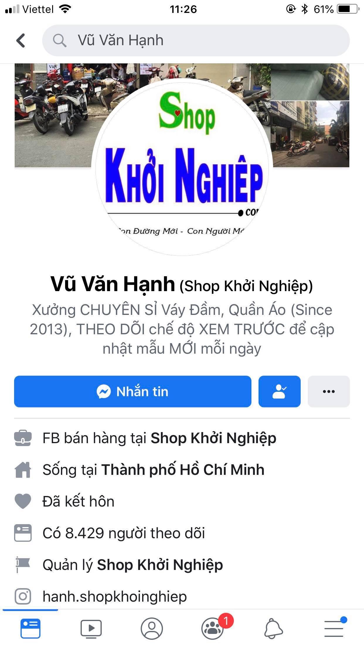 fb vu van hanh shop khoi nghiep