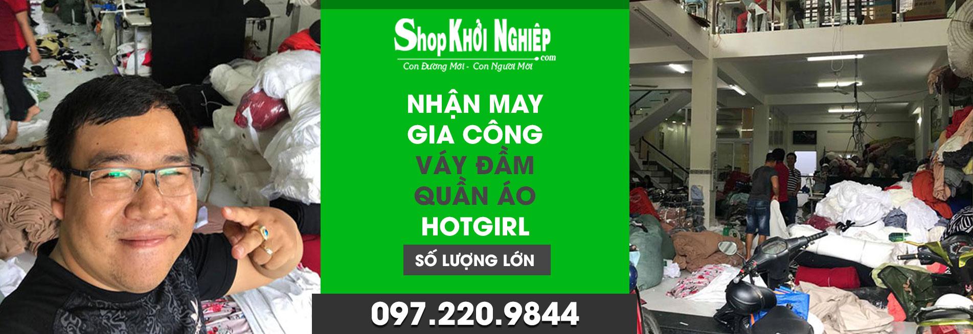 shop khởi nghiệp xưởng may váy đầm
