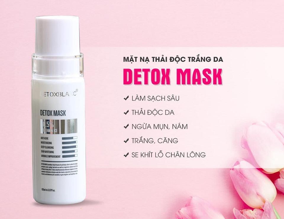 Chống lão hóa với Mặt nạ thải độc trắng da than hoạt tính Detox Blanc