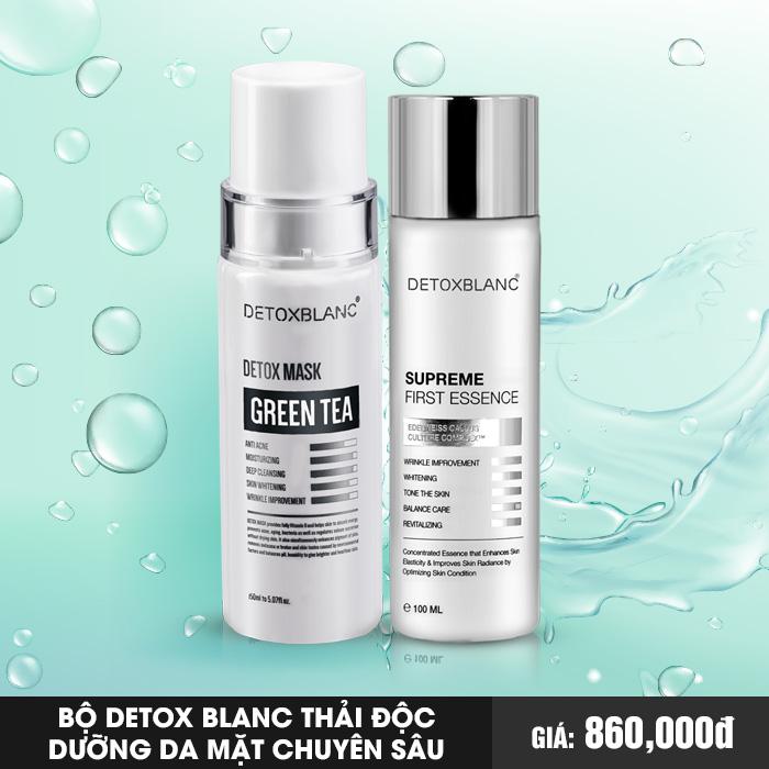 Bộ Detox Blanc Thải Độc Dưỡng Da Mặt Chuyên Sâu