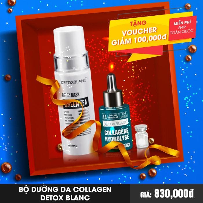 Bộ Dưỡng Da Collagen Cao Cấp Detox Blanc