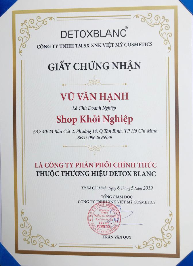 Shop Khởi Nghiệp - Shop phân phối mỹ phẩm Detox Blanc chính hãng