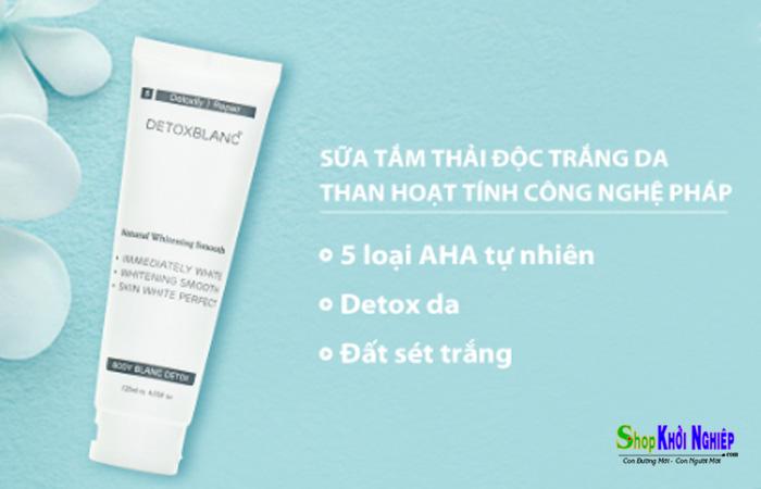 Sữa tắm thải độc trắng da than hoạt tính Detox Blanc