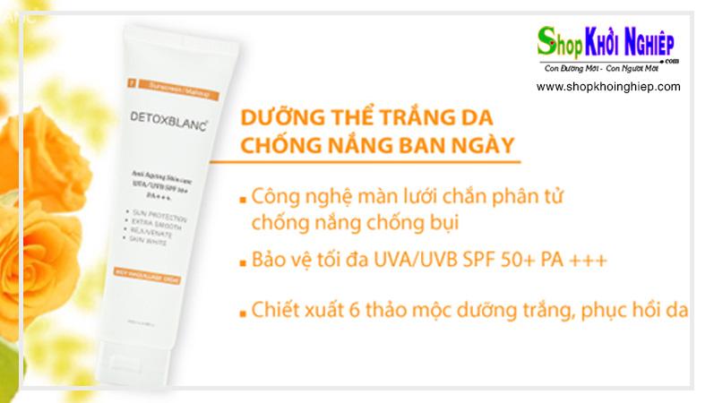 Kem dưỡng da chống nắng ban ngày Detox Blanc - Công nghệ màng chắn phân tử chống nắng, dưỡng trắng và kháng bụi bẩn