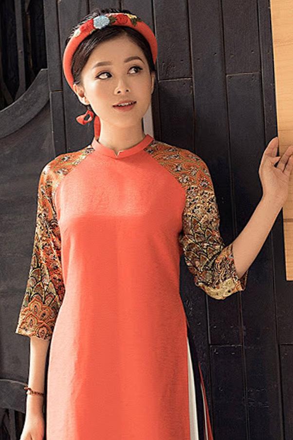 Áo dài cách tân nữ từ vải gấm sang trọng, quý phái