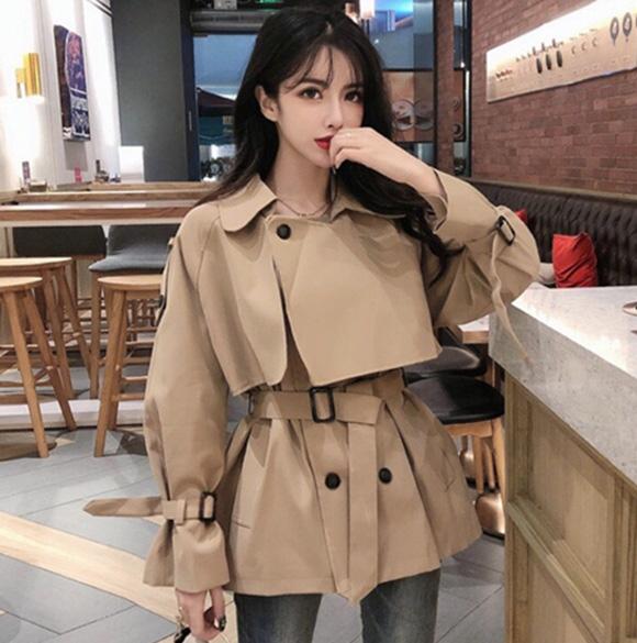 Mẫu áo khoác nữ phù hợp cho dáng người suông