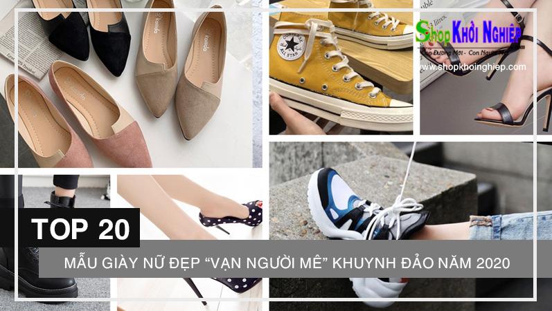 """Đi tìm 20 mẫu giày nữ đẹp """"vạn người mê"""" khuynh đảo năm 2020"""