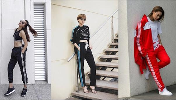 Phong cách phối đồ nữ vô cùng cá tính mạnh mẽ với những set thể thao áo crop top kết hợp với phong cách thời trang cuốn hút từ mái tóc, hay việc chọn giày thể thao, giày cao gót, một chiếc áo khoác cùng tone màu, gợi lên phong cách riêng của mỗi người
