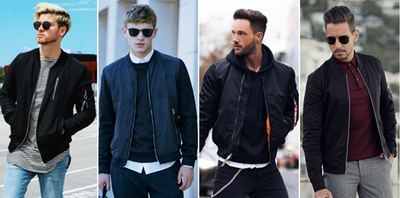 Những chiếc áo khoác bomber nam nếu được phối đồ đồ phù hợp sẽ toát lên phong thái mạnh mẽ và đầy nam tính, phong cách của những người đàn ông Châu Âu lịch lãm.