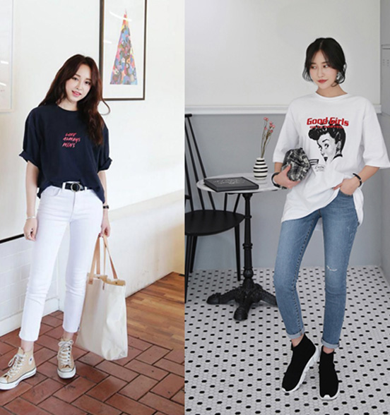 Chủ đề thời trang không bao giờ cạn kiệt ý tưởng, đơn giản với cách phối đồ nữ liên quan đến áo phông rộng đã là một bài toán nhiều lời giải