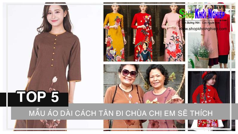Top 5 mẫu áo dài cách tân đi chùa chắc chắn chị em sẽ thích