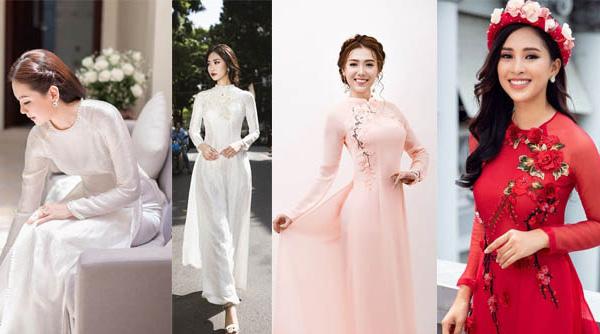 Những mẫu áo dài ăn hỏi đa dạng, cô dâu dễ dàng chọn mẫu đẹp nhất với mình