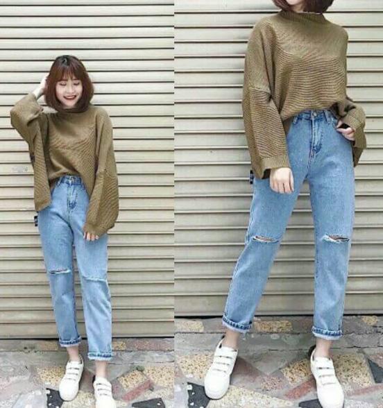 Phối áo phông rộng với quần jean cá tính, một cách phối đồ nữ cực chất. Áo có thể phối với nhiều quần, và quần có thể phối với nhiều áo, linh hoạt cho bạn nữ lựa chọn