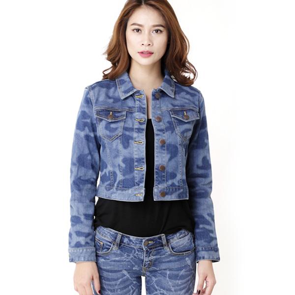 Áo khoác jean nữ form ôm