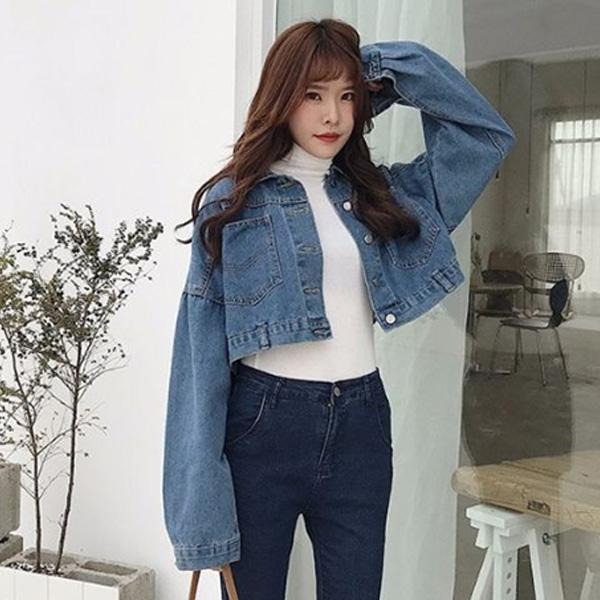 Áo khoác jean nữ lửng