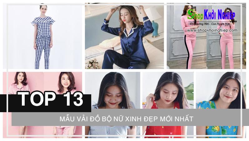 TOP 13 mẫu vải đồ bộ nữ xinh đẹp mới nhất