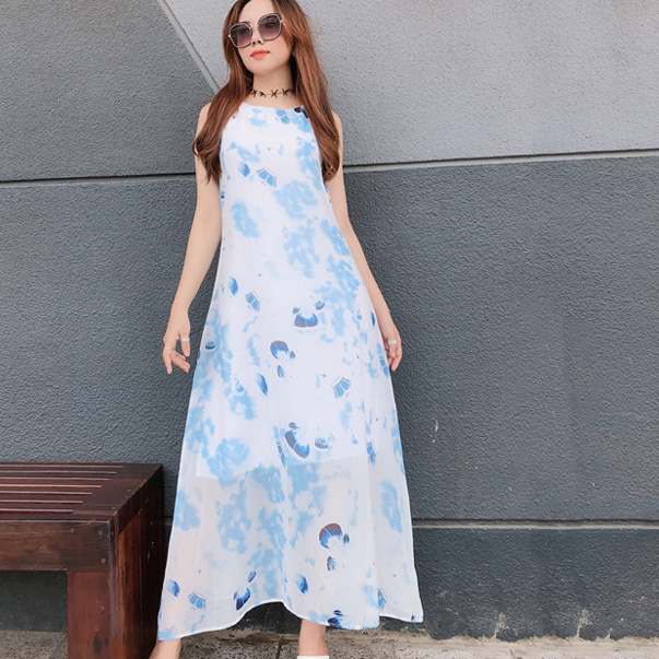 Váy đi biển nữ sát nách thời trang